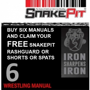 Buy 3 or 6 SnakePit Wrestling Manuals and Claim Your FREE Gift